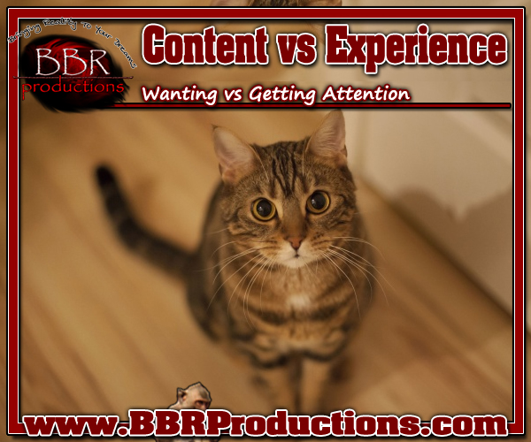 BBR Productions Inc. Content vs Experience 03